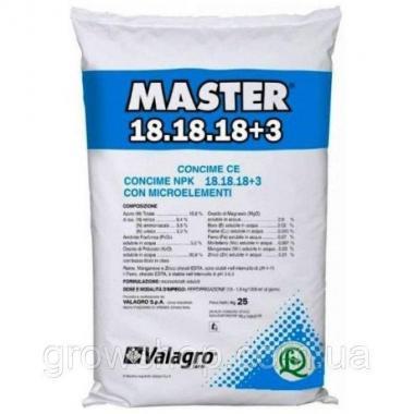 Минеральное удобрение Valagro Master 18.18.18+3 Valagro 25кг